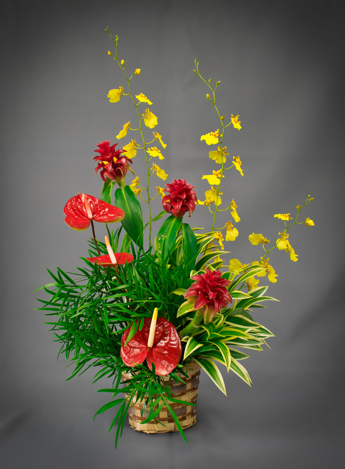 Hawaiian Tropical Flower Arrangements Delivered Ready For Display