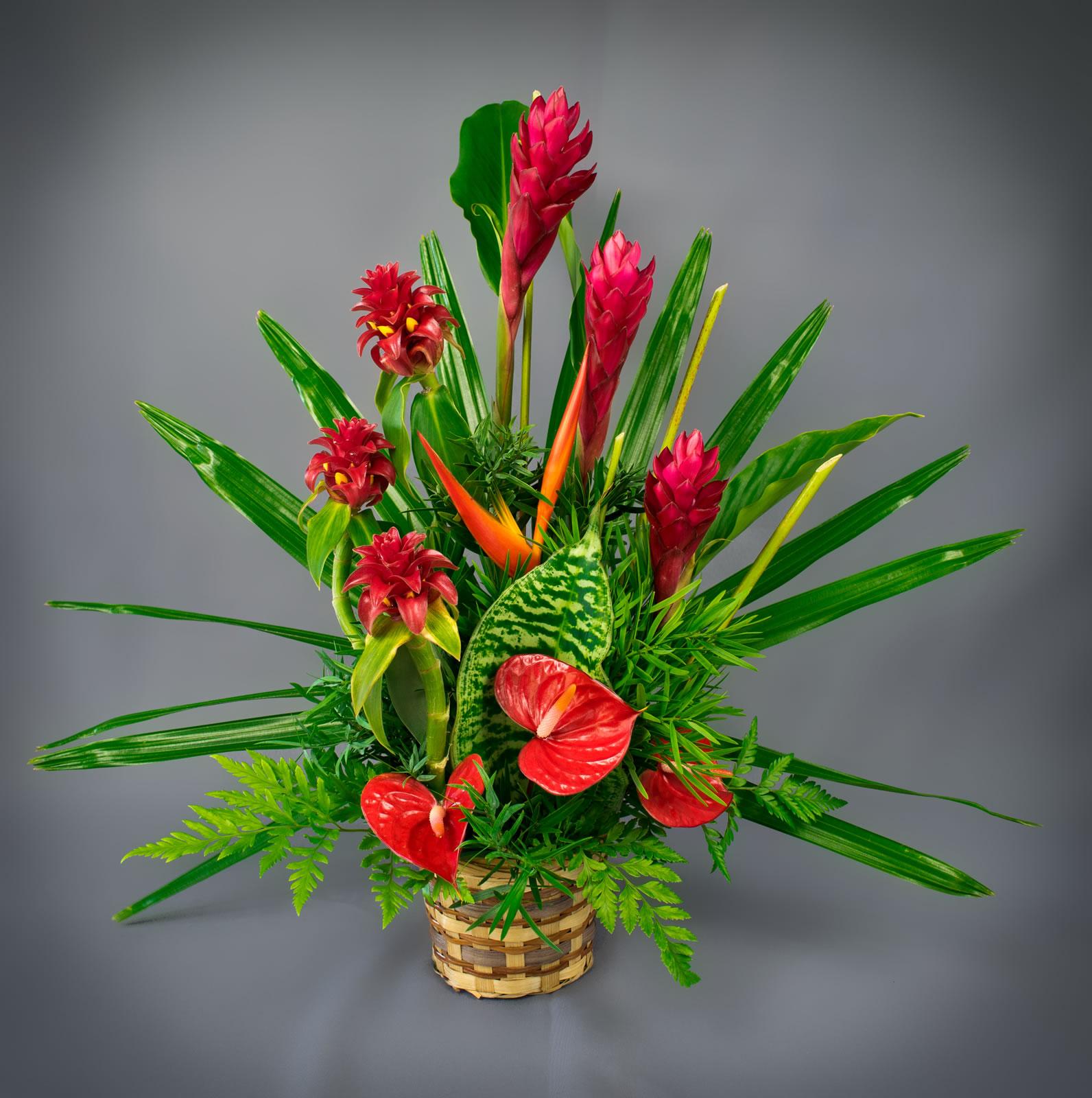 Peles Fire Bouquet Puna Ohana Tropical Flowers Leis