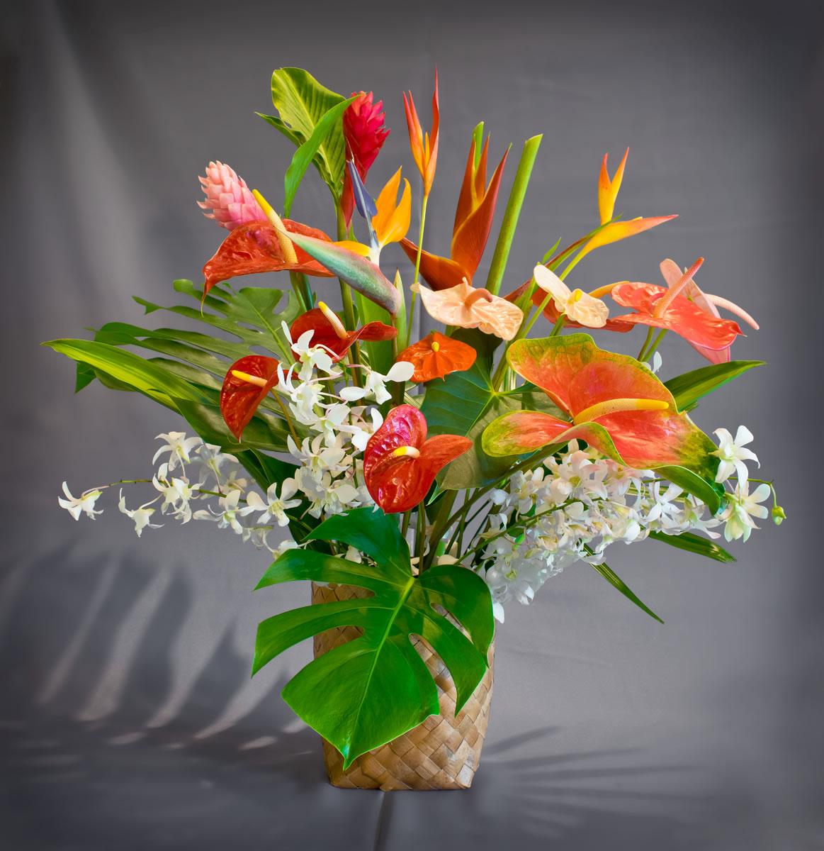 Large Tropical Mix Puna Ohana Tropical Flowers Leis