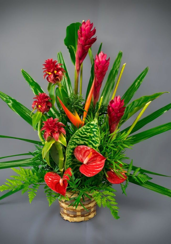 Tropical Flowers Arrangements Leis Puna Ohana Flowers